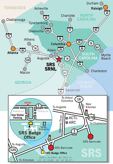 SRS Where We Are - Georgia map savannah river